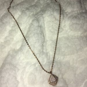 Jewelry - Real Diamond Rose Gold Necklace